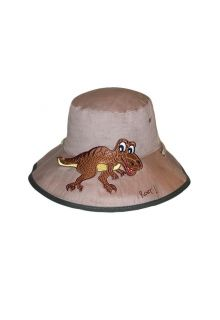 Rigon---UV-bucket-hat-for-children---Khaki-dino