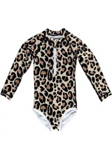 Beach-&-Bandits---Girls'-UV-bathing-suit---Leopard---Beige/Black