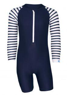 JUJA---UV-Swim-suit-for-babies---longsleeve---Stripes---Darkblue