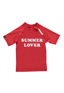 Beach-&-Bandits---Girls'-UV-swim-shirt---Summer-Lover---Red