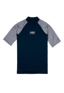 Billabong---UV-Rashguard-for-men---Short-sleeve---Contrast---Navy