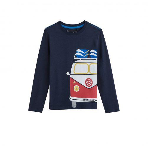 Coolibar - UV shirt for kids - vintage camper - dark blue - Front