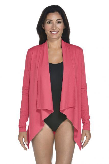 Coolibar - UV Vest women - Coral - Front