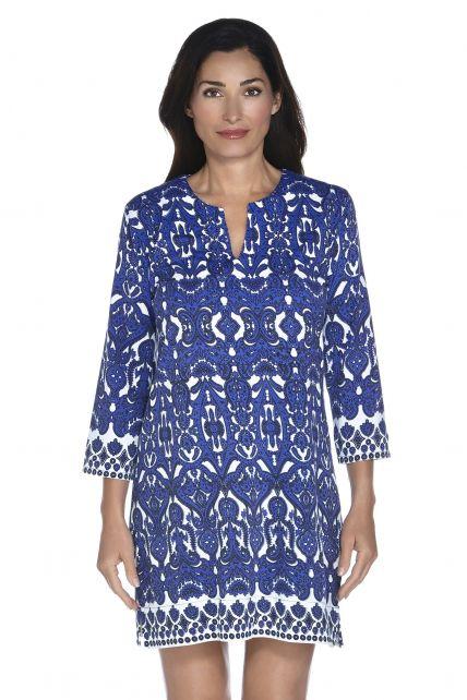 Coolibar - UPF 50+ Women's Oceanside Tunic Dress - Moroccan Cobalt - 0