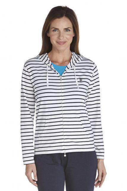 Coolibar---Cowl-Neck-Pullover---navy/-white-stripe