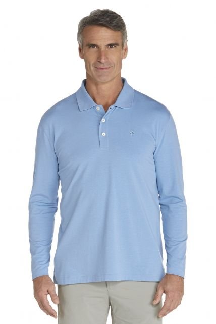 Coolibar---Sport-UV-Polo---blue-river