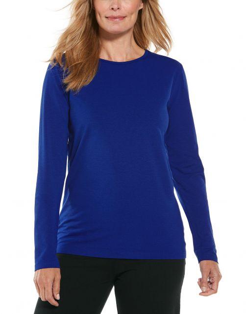 Coolibar---UV-Shirt-for-women---Longsleeve---Morada---Sapphire-Blue