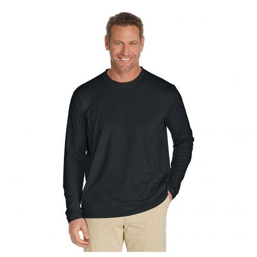 Coolibar - UV longsleeve shirt for men - Black - Front