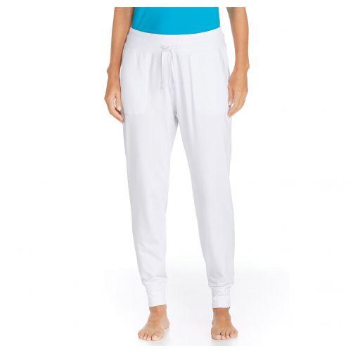 Coolibar---Casual-UV-Pants---White