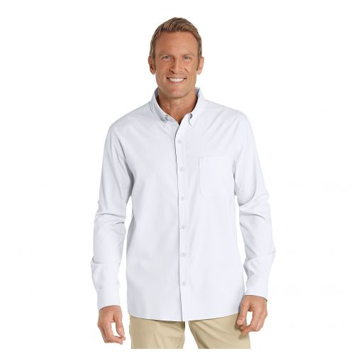 Coolibar---UV-shirt-for-men---White