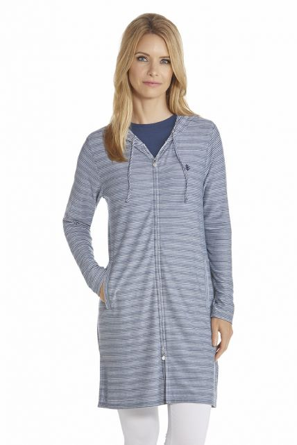 Coolibar---UV-Dress-with-Long-sleeves-and-zipper-women---DarkBlue/White