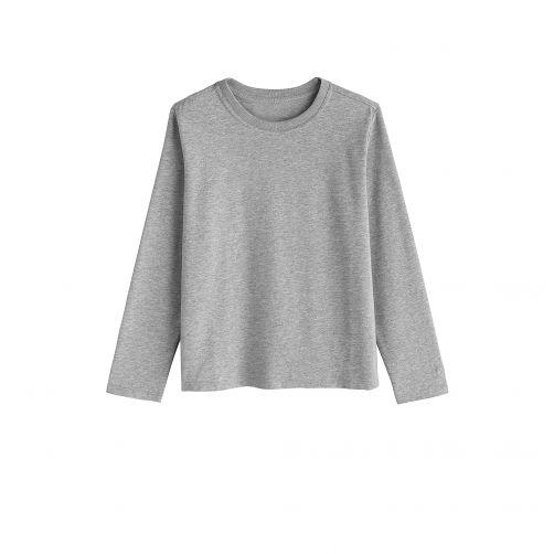 Coolibar - UV shirt for children longsleeve - Grey heather - Front