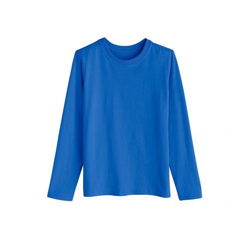 Coolibar - UV shirt for children longsleeve - Brilliant blue - Front