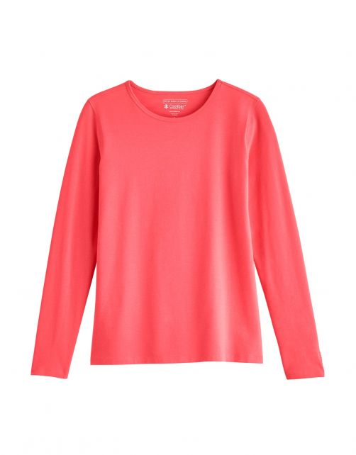 Coolibar---UV-Shirt-for-women---Longsleeve---Morada---Peony-Coral