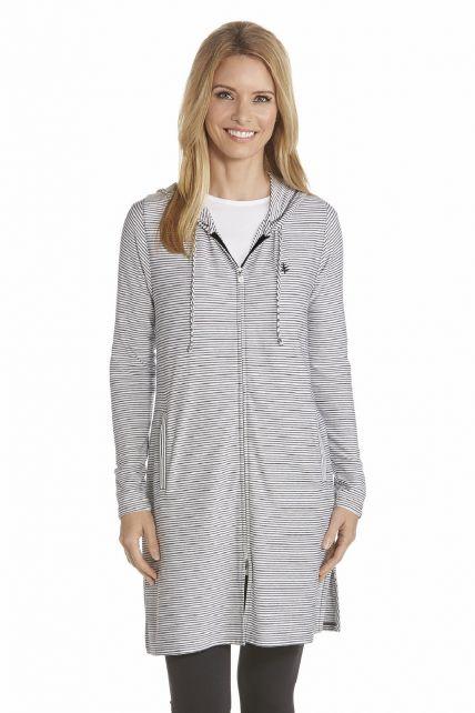 Coolibar---UV-Dress-with-Long-sleeves-and-zipper-women---Black/White