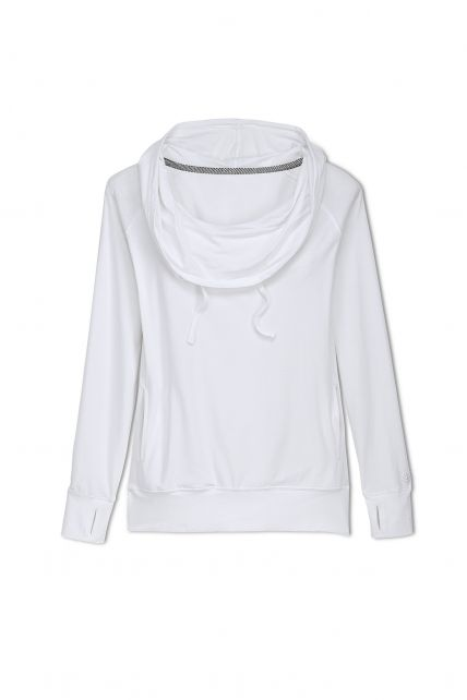 Coolibar---Cowl-Neck-Pullover---white