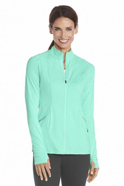 Coolibar---UV-Women-Workout-Jacket---Aqua