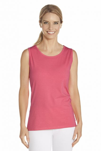 Coolibar - UV Basic top women - Coral - Front