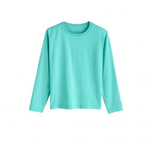 Coolibar - UV shirt for children longsleeve - Crisp Aqua blue - Front