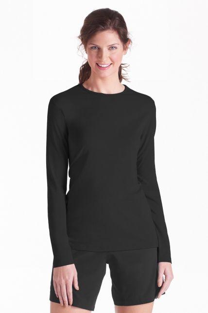 UV Long-Sleeve T-Shirt - black - Front