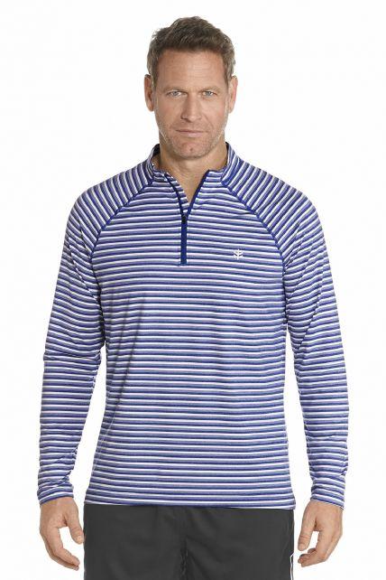 Coolibar---Golf-pullover---Cobalt-Stripe