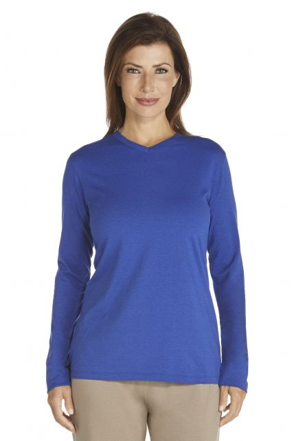 Coolibar---UV-Long-Sleeve-T-Shirt---cobalt-blue