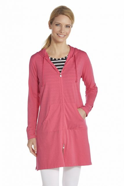 Coolibar---UV-long-cover-up-for-ladies---Fuchsia