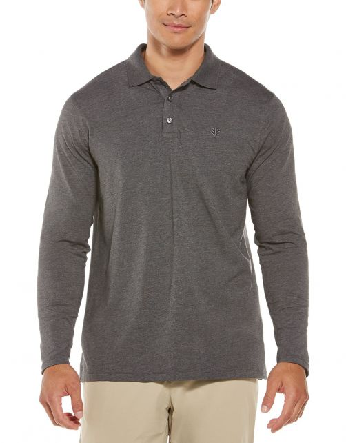 Coolibar---UV-Polo-Shirt-for-men---Longsleeve---Coppitt---Charcoal