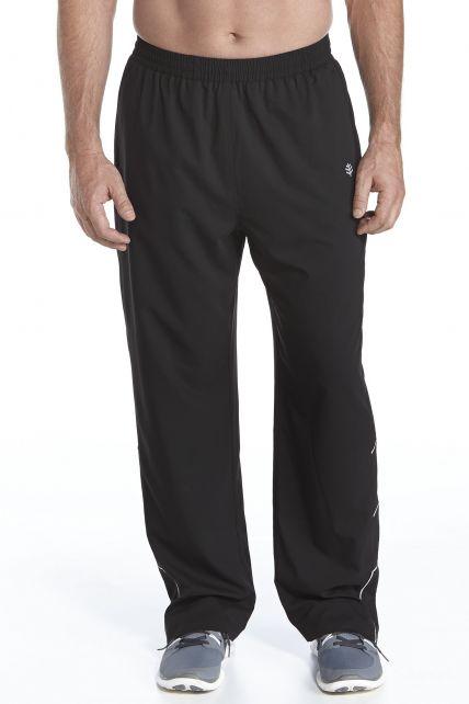 Fitness UV Pants - Black - Front