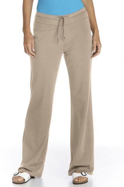 UV Beach UV Pants - taupe - Front