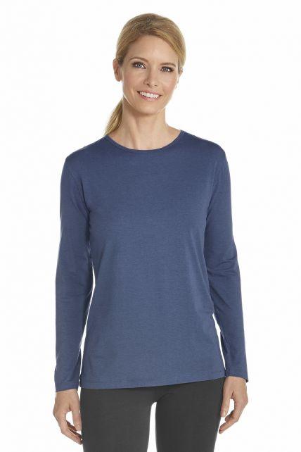 Coolibar - T-Shirt long sleeve - Dark Blue - Front