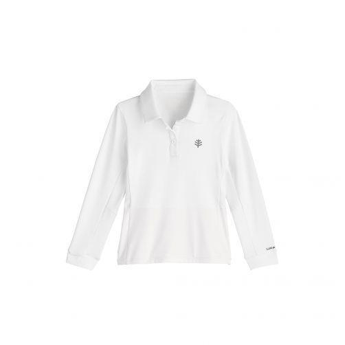 Coolibar - UV polo for girls - white - Front