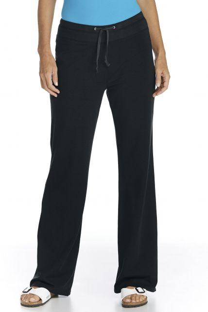 UV Beach UV Pants - Black - Front