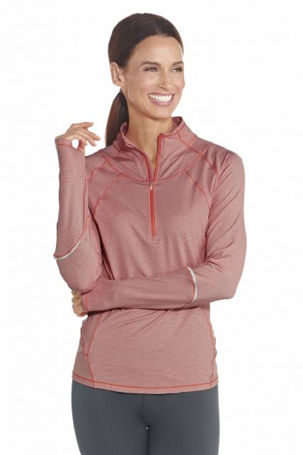 Coolibar---UV-Polo---Sweater---Peach