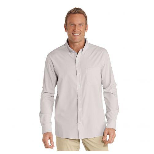 Coolibar---UV-shirt-for-men---Stone-grey