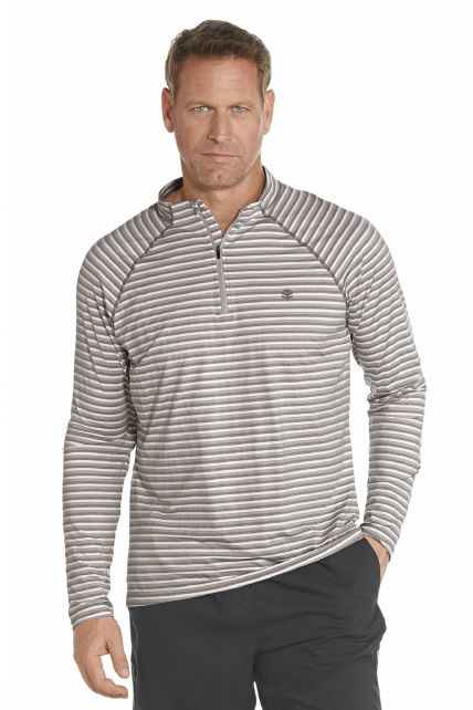 Coolibar---Golf-pullover---light-grey-stripe