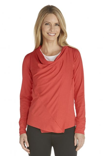 Coolibar - UV Sun Wrap - Sienna Coral - Front