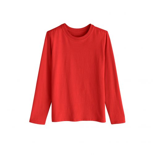 Coolibar - UV shirt for children longsleeve - Tropical red - Front