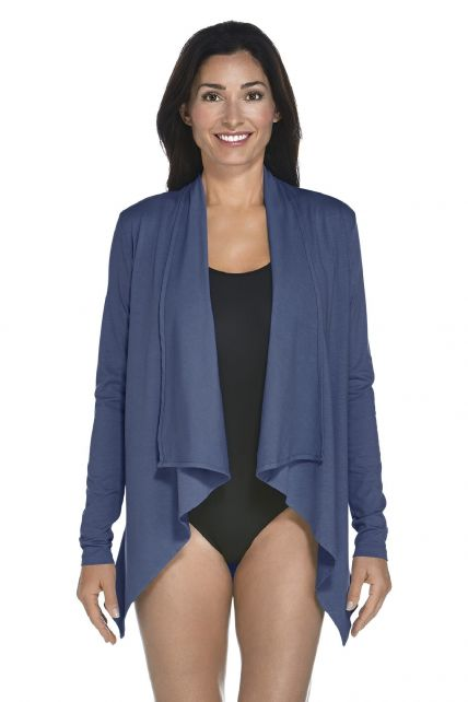 Coolibar - UV Vest women - Dark Blue - Front