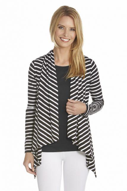 Coolibar---UV-Vest-women---Black/White