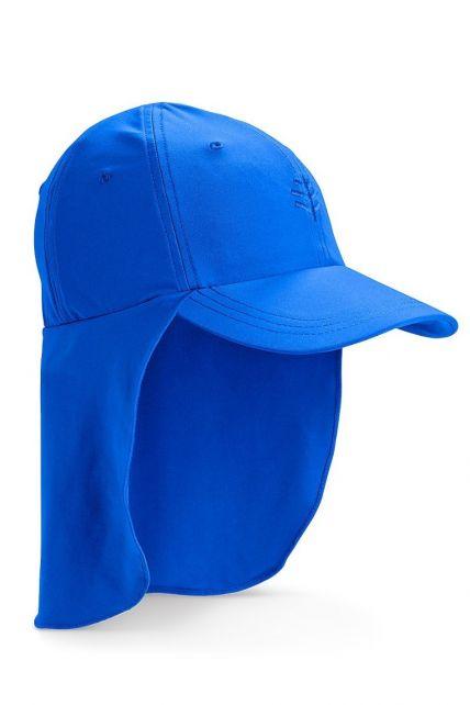 Coolibar---UV-sun-cap-for-children-with-neck-flap---Blue-wave