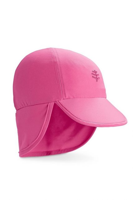 Coolibar---UV-sun-cap-for-babies-with-neck-flap---Aloha-pink