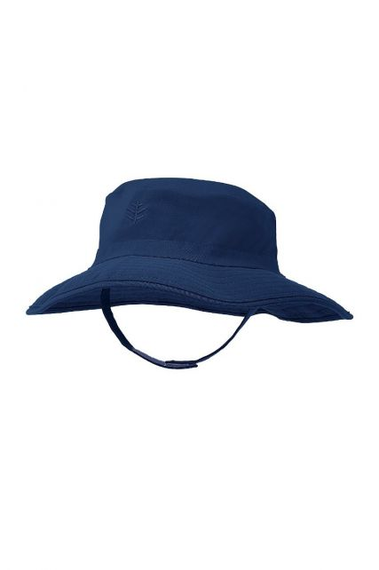 Coolibar---UV-bucket-hat-for-babies---Navy-blue
