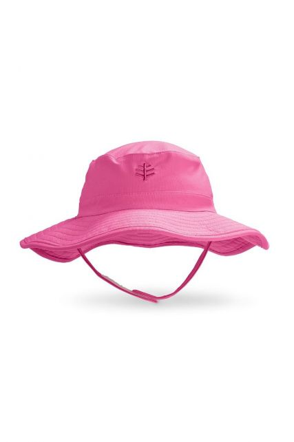 Coolibar---UV-bucket-hat-for-babies---Aloha-Pink