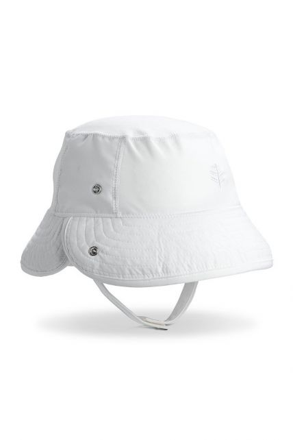 Coolibar---UV-bucket-for-babies-with-folding-brim---White