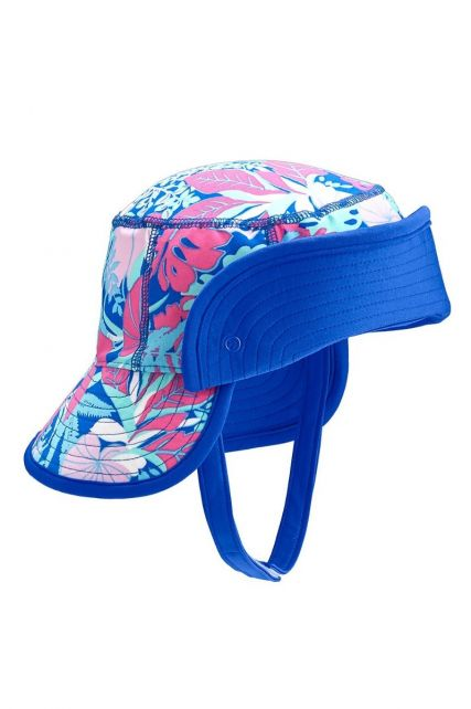 Coolibar---UV-bucket-for-babies-with-folding-brim---Tropical-blue