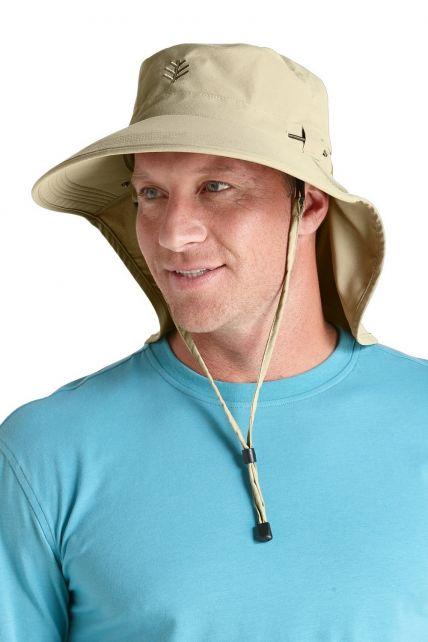 Coolibar---UPF-50+-Men's-Ultra-Sun-Hat---Beige