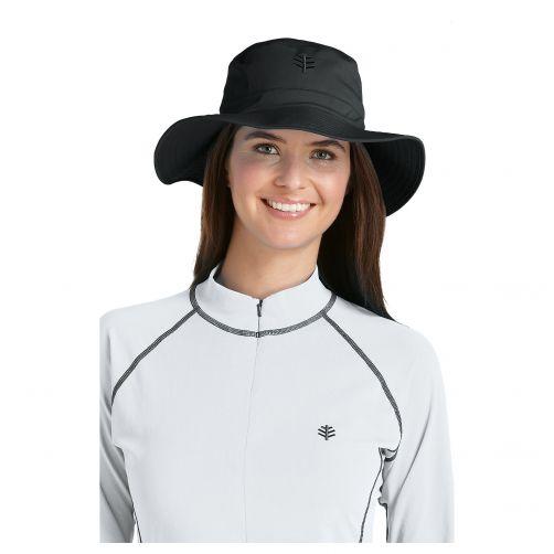 Coolibar---UV-bucket-hat-unisex---Black