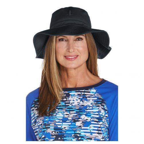 Coolibar---UV-floppy-hat-for-women---Black