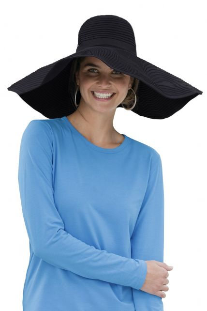 Coolibar---Shapeable-Poolside-UV-Sun-hat---Black